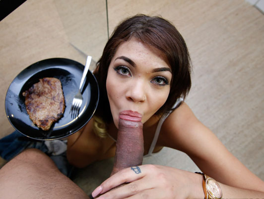 Steak and Blowjob Day with Cassidy Banks