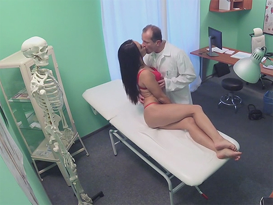 Hidden camera recording a pervert Doctor fucking a pretty patient