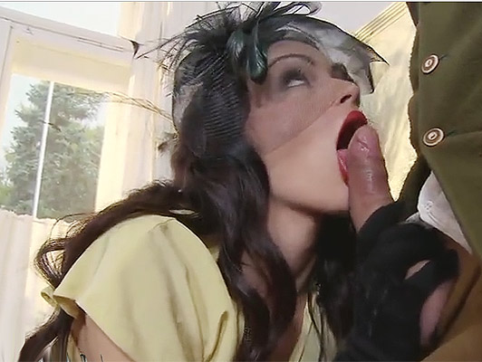 A beautiful girl posh sucking a cock leaves lubricated and ready to shove his narrow asshole