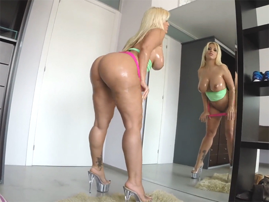 Fucking with the argentinian with amazing ass and huge melons, Blondie Fesser