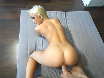 Fucking with Cleo Vixen, a young blonde and tiny but with amazing ass