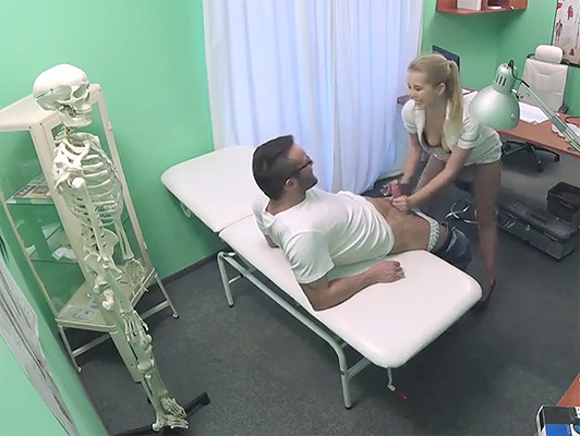 Doctor and nurse fucking and recorded by a hidden camera