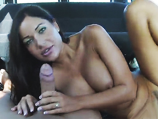 Angelica Heart is given a ride in a van and fucks like a whore