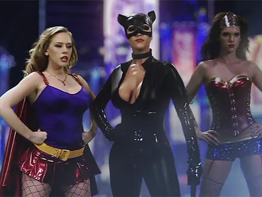 Super heroines avenging of sex