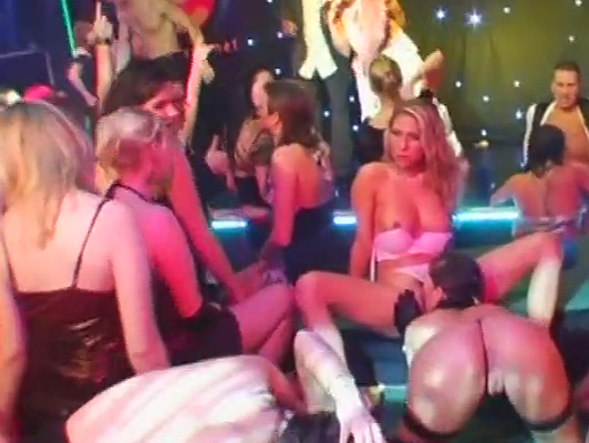 The discotheque gets out of hand with a massive orgy