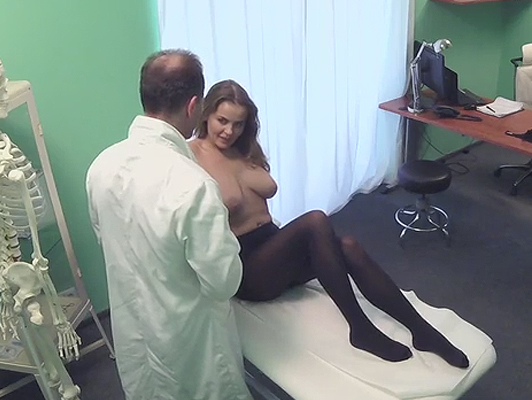 Doctor fucking a busty patient, filmed on hidden camera