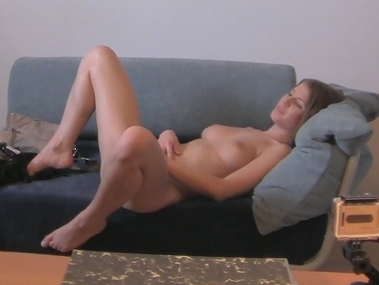 Brunette girl is tricked and fucked by a fake agent