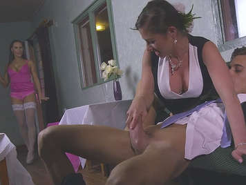 Amazing threesome with Mea Melone and Cathy Heaven
