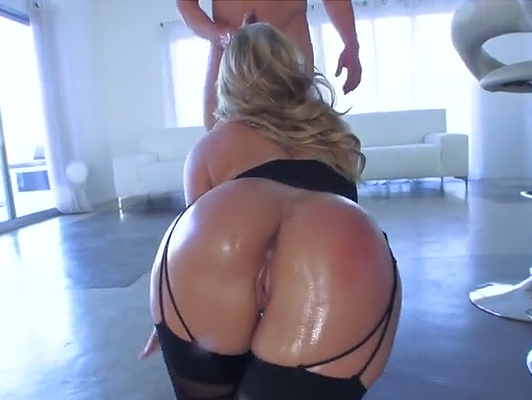 Oiled ass and well fucked