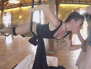 Julia Roca Hanging by an XL Dick