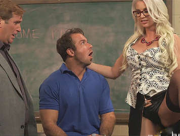 Sexual punishment of a hot sexy teacher with big tits