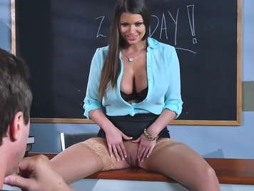 Seductive and horny teacher fucking with her pupil