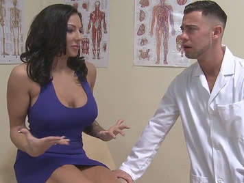 breast examination of a gynecologist becomes in sex with his busty patient