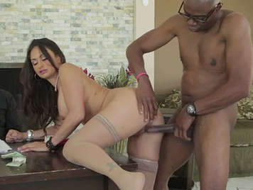 interracial sex at job