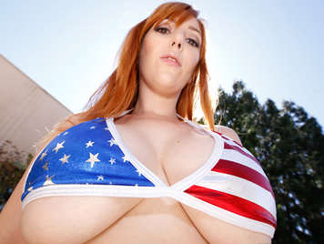 American busty celebrating the 4th of July
