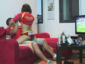 Spanish porn. Sex during a match of the Spanish national soccer team