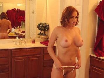 Mature redhead fucking big tits