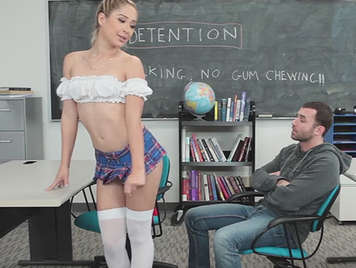 Young schoolgirl in uniform fuck her  teacher