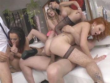 Young porn stars in brutal orgy with Rocco Siffredi