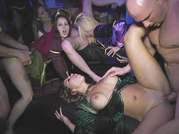 Orgy at the court of King Arthur