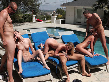 Single women in the pool they want hard cocks his hot neighbors
