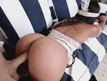 Fucking perfect round ass of a disguised Indian girl