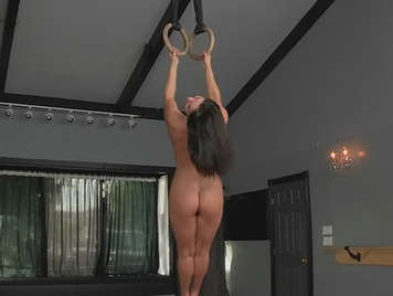Young nasty and vicious gymnast likes to fuck during training