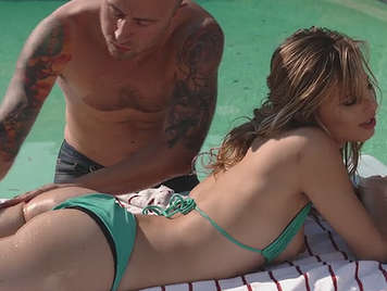 In the pool fucking with Jillian Janson in bikini