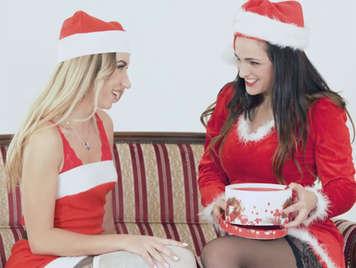Weihnachten Lesben zwischen einem Russen und einem Spanier