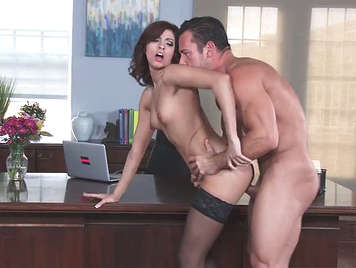 Intense sex at office with the slut secretary