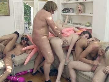 nero lesbiche orgia video