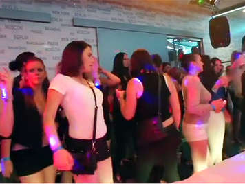 Wild lawless party with 50 horny girls in a disco