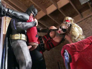 Xxx parody porn with Batman, who is horny and fucks in the most beautiful and dangerous blonde, of the town