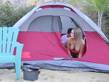 Se la folla en el camping en video amateur.
