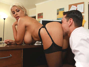 Super fucking in the office with his amazing latina secretary