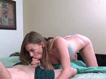 Fucking his sexy little step-sister in an amateur porn video