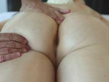 Massaging a perfect ass to finish fucking
