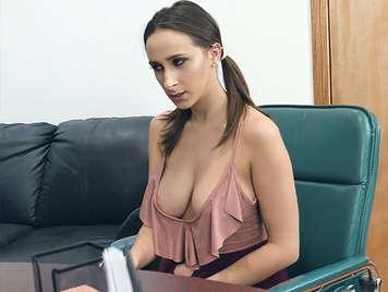 Fucking with the new sexy busty secretary naughty