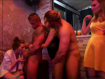 Bachelorette party becomes mega orgy