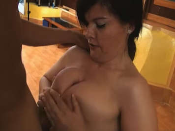 Mature busty Spanish fucking with a young rookie