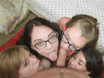horny college girls sucking cock