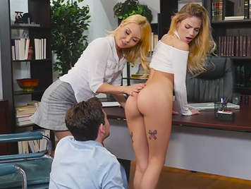 Boss fucks his secretaries.