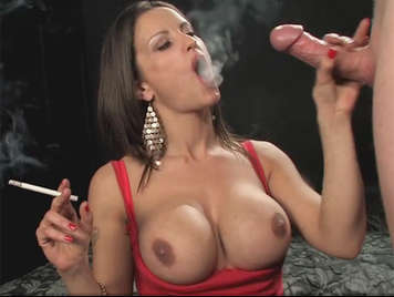 Busty milf making a Smoking Hot Blowjob