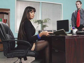 Pussy Sekretärin, offen und bereit zu sein,