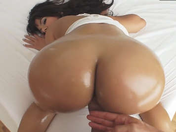 Big ass fucked on all fours full of oil