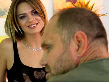 Spanish porn, Spanish stud Nacho Vidal makes casting with a cute blonde girl from Eastern Europe