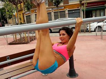 Porno español, follando con la sexy Alexa Tomas despues de un duro dia de entrenamiento