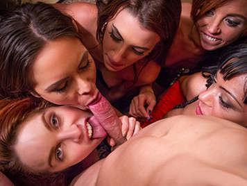Porno español, Orgia de sexo duro con cinco zorras española muy cachondas