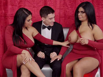 Porno español Trio de sexo duro con las Hermanas Ortega y Jordi El Niño Polla