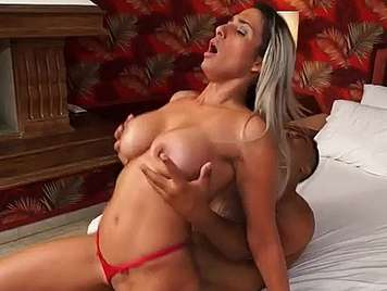 Brazilian busty blonde fucked in the ass